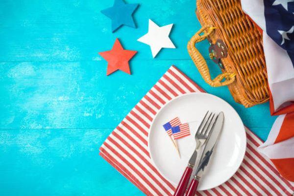 Como decorar nuestra casa para el dia de la independencia de los eeuu FOTOS mesa mantel