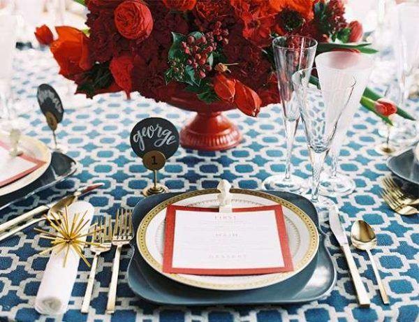 Como decorar nuestra casa para el dia de la independencia de los eeuu mesa dorada