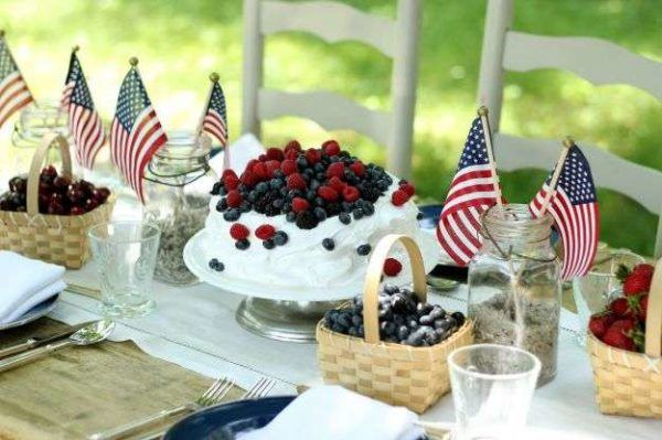 Como decorar nuestra casa para el dia de la independencia de los eeuu mesa