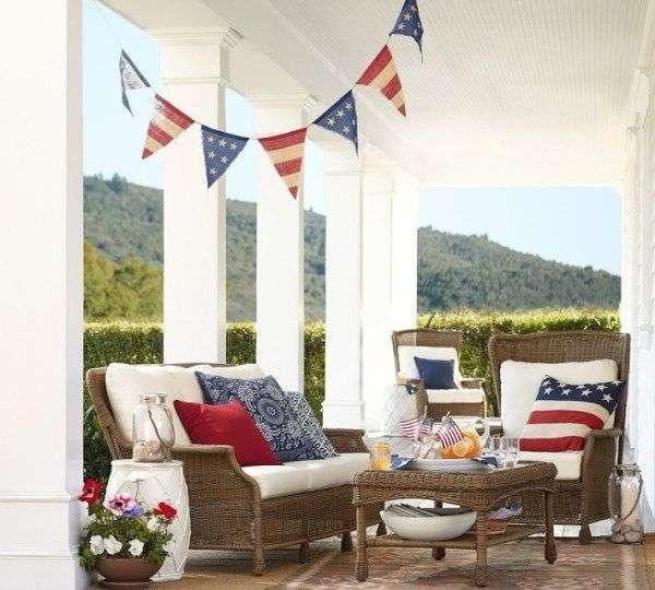 Como decorar nuestra casa para el dia de la independencia de los eeuu porche
