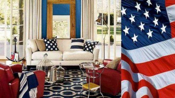Como decorar nuestra casa para el dia de la independencia de los eeuu salon