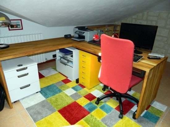 escritorio de bloque de madera de martillo