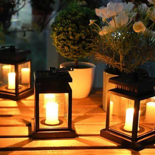 Las mejores formas ideas para iluminar tu terraza sin contaminar vela solar con efecto llama