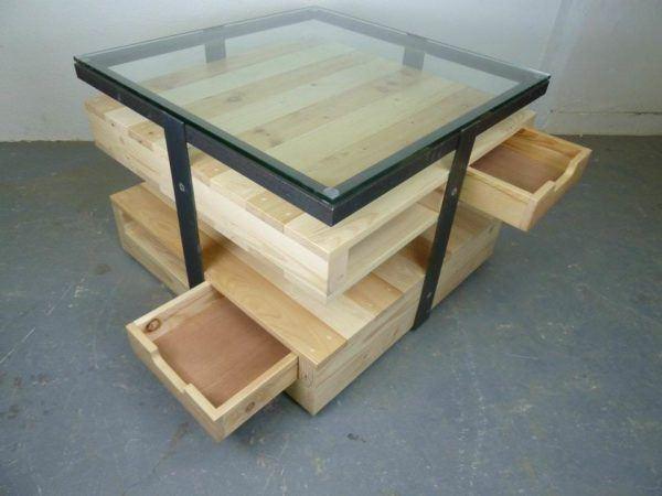 Las mejores ideas para hacer mesas de centro con palets mesa con altura