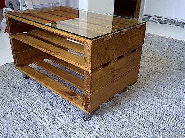 Las mejores ideas para hacer mesas de centro con palets mesa palet doble