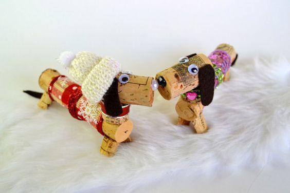 Ideas y consejos para hacer animales con corchos para niños perros