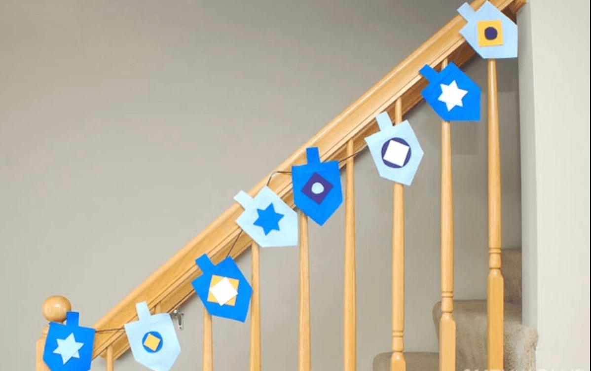 Ideas de manualidades para niños para el día de Hanukkah escalera