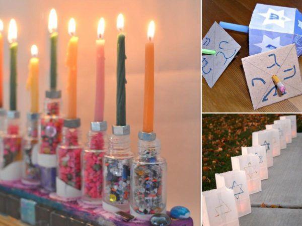 Ideas de manualidades para niños para el día de Hanukkah portada