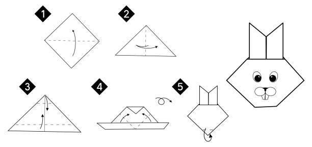 Las mejores ideas de origami para principiantes FOTOS conejo