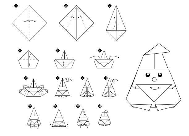 Las mejores ideas de origami para principiantes FOTOS papa noel