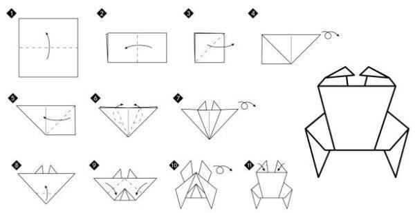 Las mejores ideas de origami para principiantes animales cangrejo