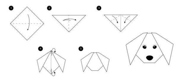 Las mejores ideas de origami para principiantes animales perro