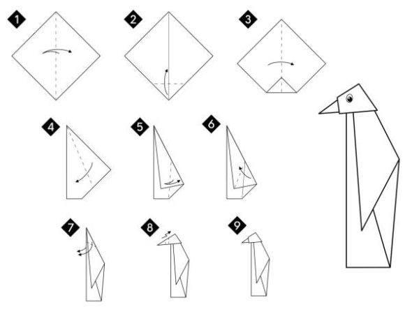 Las mejores ideas de origami para principiantes animales pinguino