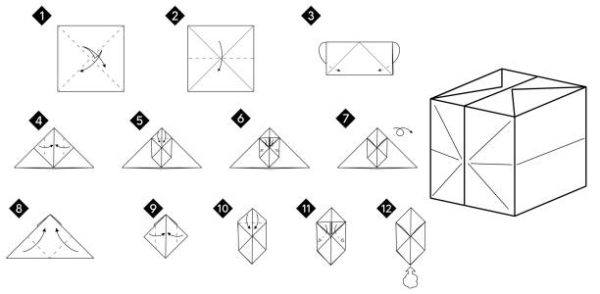 Las mejores ideas de origami para principiantes caja cerrada