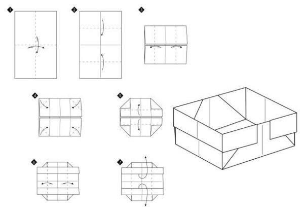 Las mejores ideas de origami para principiantes caja