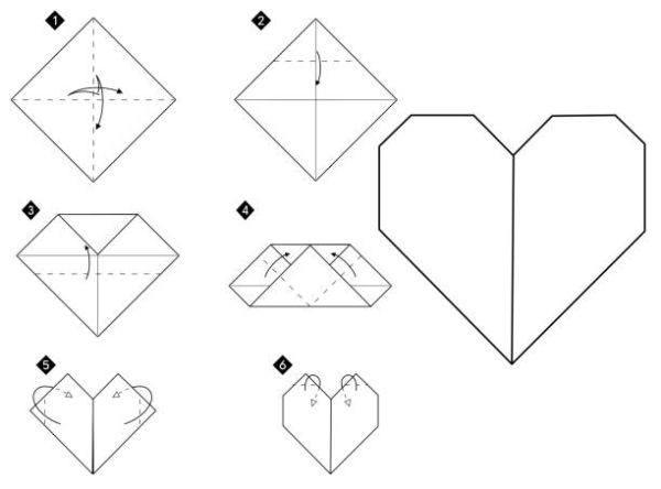 Las mejores ideas de origami para principiantes corazon 1