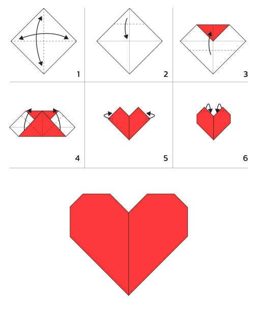Las mejores ideas de origami para principiantes corazon 2