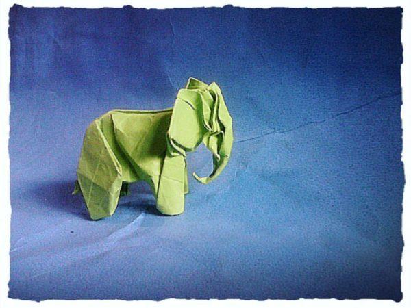 Las mejores ideas para expertos para hacer origamis FOTOS elefante