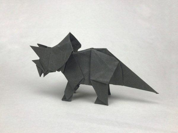 Las mejores ideas para expertos para hacer origamis FOTOS rinoceronte gris