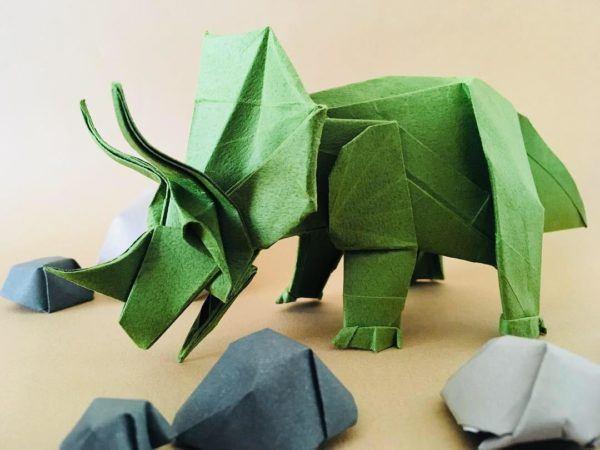 Las mejores ideas para expertos para hacer origamis FOTOS rinoceronte