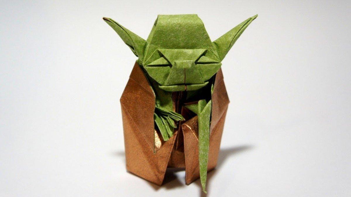 Las mejores ideas para expertos para hacer origamis FOTOS yoda