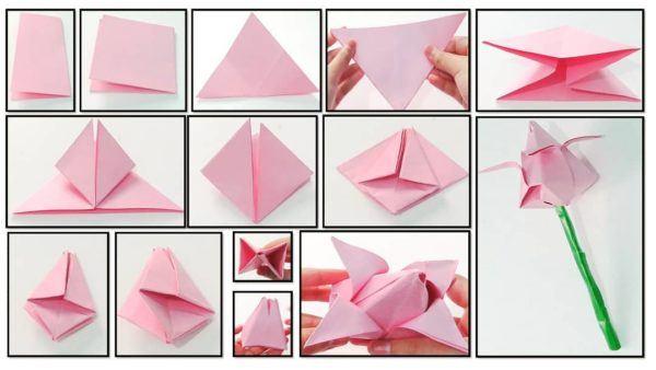 Las mejores ideas para expertos para hacer origamis tulipan