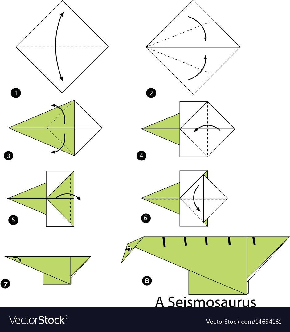 Los origami mas sencillos para hacer con personas mayores y celebrar el dia mundial del origami FOTOS dinosaurio