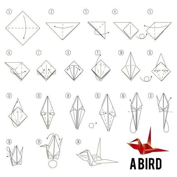 Los origami mas sencillos para hacer con personas mayores y celebrar el dia mundial del origami FOTOS grulla
