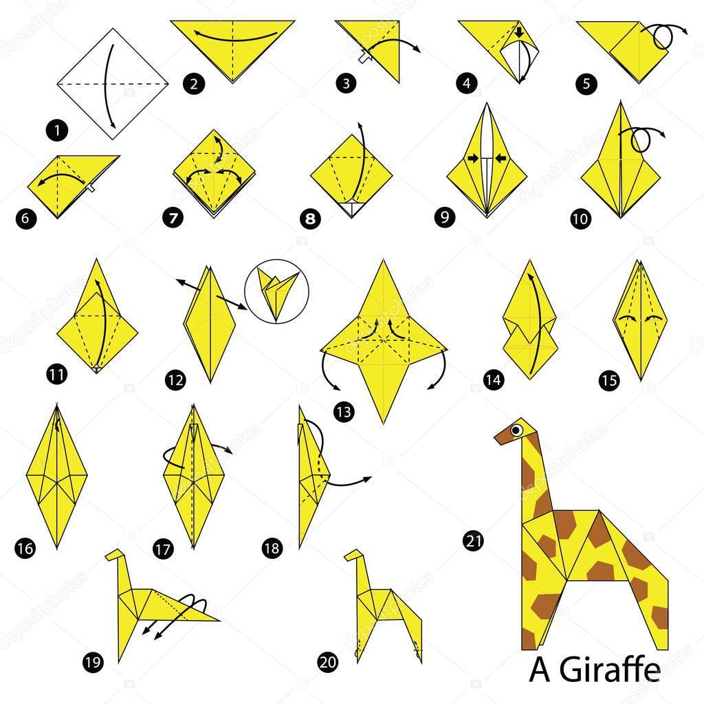 Los origami mas sencillos para hacer con personas mayores y celebrar el dia mundial del origami FOTOS jirafa