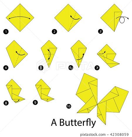 Los origami mas sencillos para hacer con personas mayores y celebrar el dia mundial del origami FOTOS mariposa