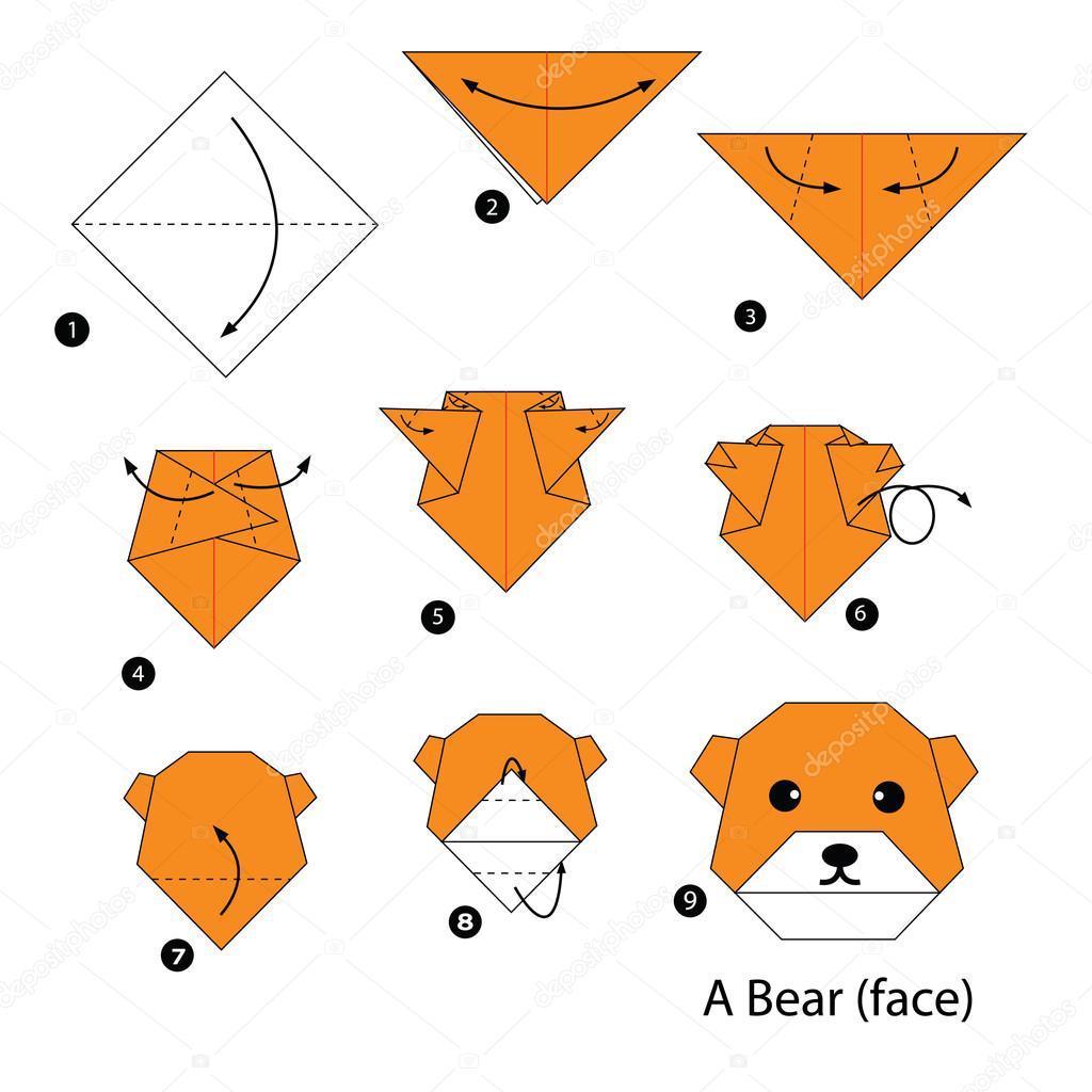 Los origami mas sencillos para hacer con personas mayores y celebrar el dia mundial del origami FOTOS oso
