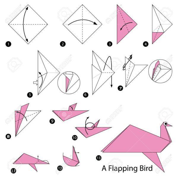 Los origami mas sencillos para hacer con personas mayores y celebrar el dia mundial del origami FOTOS pajaro volando