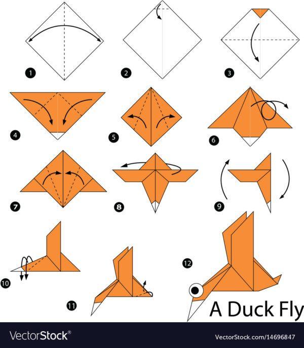 Los origami mas sencillos para hacer con personas mayores y celebrar el dia mundial del origami FOTOS pato