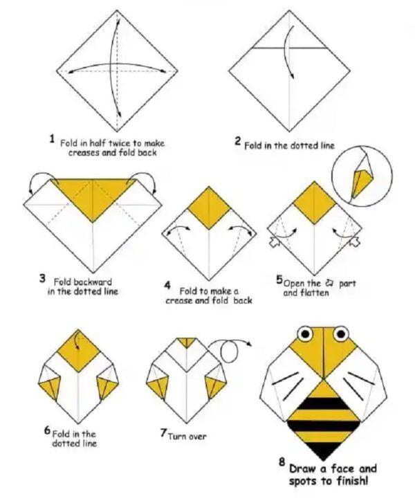 Los origami mas sencillos para hacer con personas mayores y celebrar el dia mundial del origami abeja