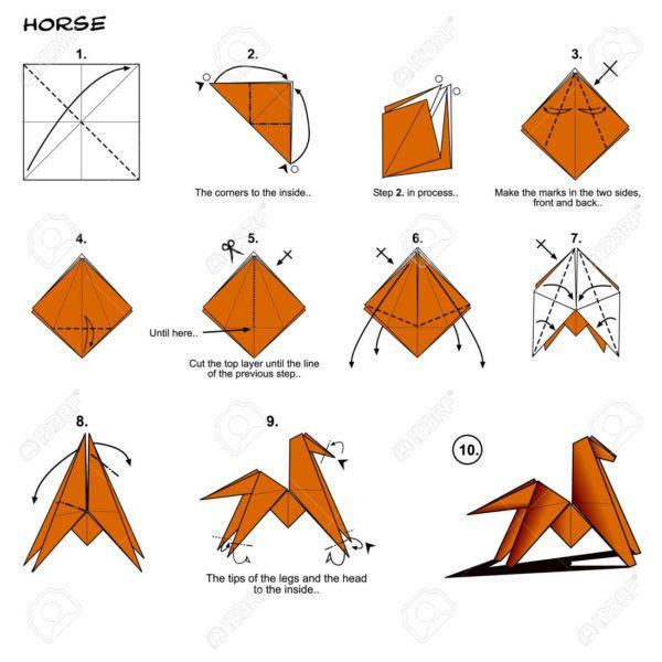 Los origami mas sencillos para hacer con personas mayores y celebrar el dia mundial del origami caballo