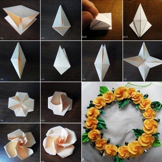 Los origami mas sencillos para hacer con personas mayores y celebrar el dia mundial del origami flor