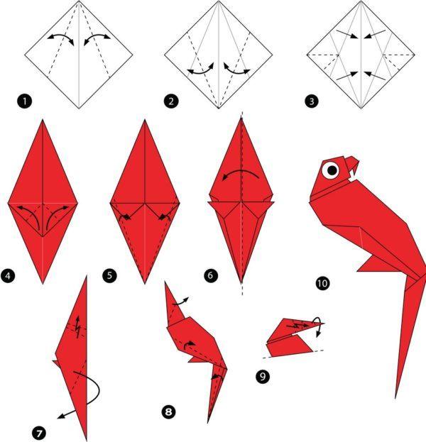 Los origami mas sencillos para hacer con personas mayores y celebrar el dia mundial del origami loro